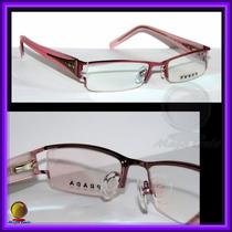 Óculos De Grau Armação, Aro E Haste Rosas Vpr594