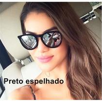 Óculos Sol Feminino Rayban 4171 Érica Veludo Espelhado Prata