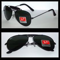 Óculos Caçador 3422q Preto Lentes Pretas M 58mm Original