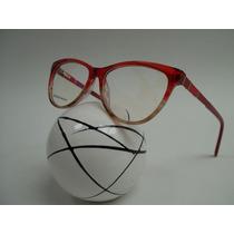 Armação Feminina Óculos P/ Grau Estilo Gatinha Cor Vermelha