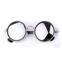 Óculos Sol Prata ~ Retro Vintage Espelhado Redondo Hippie ~