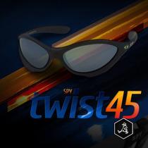 Óculos De Sol Spy - Original - Modelo Twist 45 - Preto