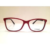 Armação De Óculos Vogue Acetato Vermlho C/ Preto