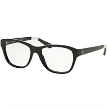 Óculos De Grau Polo Ralph Lauren Preto Detalhe Branco
