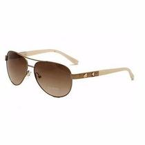 Oculos Guess Aviador Gu7279 Rogld-34 Rosê Dourado Original