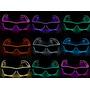 Óculos Led, Tomorrowland Várias Cores Lente Clara E Escura
