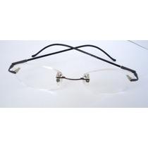 Armação Oculos Grau Titanium S Aro Preta Dobravel Importada