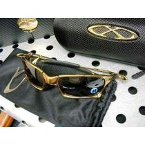 Oculos X-squared Gold Lente Black Polarizadas