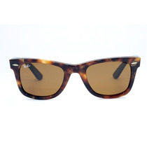 Óculos De Sol Ray-ban Wayfarer Rb2140 Marrom - Original