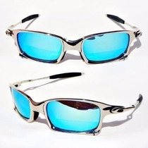 Oakley Metal Polarizado Double X Juliet 24k Squared Ice Thug