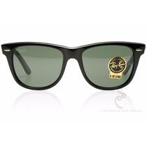 Oculos De Sol Rb2140 Wayfarer Preto - Justin - Clubmaster