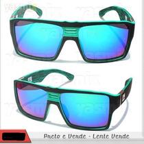 Oculos Quiksilver Enose Green Lente Espelhada Verde