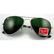 Óculos Ray-ban Original Aviador Rb3025 Prata Clássico G15