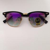 Óculos Ray Ban Clubaster Aluminium Rb 3507 Rosa Prata Azul