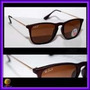 Óculos Rb4187 Chris Marrom Fosco Lentes Marrom Polarizadas