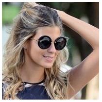 Óculos Miu Miu Noir Redondo Retro Vintage Round Preto Onça