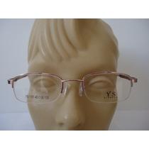 Armação P Óculos De Grau Infantil Feminina Ys1161 Metal Rosa