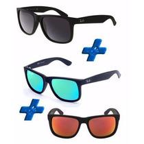 Oculos Rb Justin Polarizados Promoção Pague 1 Leve 3