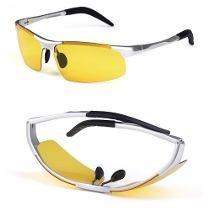 Óculos Night Drive Lupa Aluminio Para Dirigir Frete Grátis