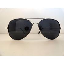 Óculos De Sol Rayban Aviador 3025 Grafite Lente Fumê