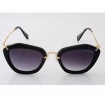 Óculos De Sol Retrô Vintage Estilo Gatinho, Tipo Miu Miu