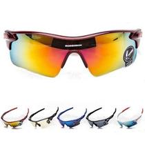Óculos De Sol Masculino Esportivo Espelhado Vermelho