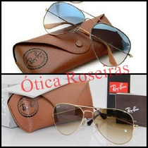 Ray Ban Aviador Marrom Azul Degradê Original 3025 3026