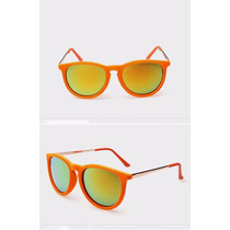 Oculos De Sol Femin. Anti-uv Camurça Veludo Espelhado Color