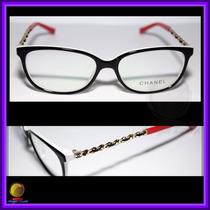 Óculos De Grau Armação Preta Branca E Vermelha Chanel 3221