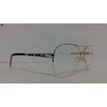 Armação Ana Hickmann Aviador Ah1205 Óculos Para Grau
