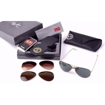Ray Ban Troca De Lente Aviador Tech Flip Out Rb3460 Original