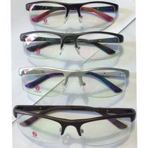 Armação Para Óculos De Grau Em Alumínio Antialérgica Rb1321