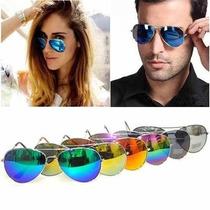 Óculos De Sol Unissex Estilo Aviador Pronta Entrega + Cores!