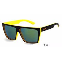 Óculos De Sol Masculino Quadrado Amarelo E Preto Evoke