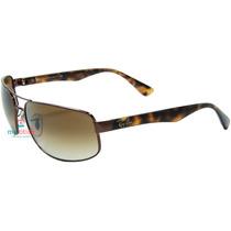 Óculos De Sol Ray Ban Rb3445 Marrom E Havana Original