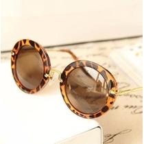 Óculos De Sol Miu Miu Redondo Preto Fosco - Frete Grátis