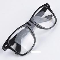 Armação Óculos Wayfarer Retrô Com Lentes Varias Cores