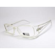 Armação De Óculos Feminino Transparente Acetato Hr 11321 Mj