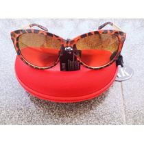 Óculos De Sol Armação Estilo Gatinho - Cor Marrom Tartaruga