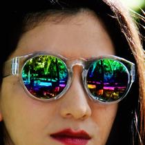 ¤ Óculos Sol Retrô Espelhado Hippie Ótima Lente + Promoção ¤