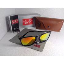 Óculos De Sol Chris Vermelho Espelhado Wayfarer Rb4181