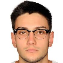 Oculos Armação Grau Rb Clubmaster Rb 3016 Preto E Prata