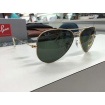 Oculos Ray Ban Rb 3025l Aviator Large Metal L0205 58 Origina