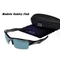 Óculos Oakley Flak Com Policarbonato + Acessórios