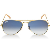 Óculos Ray Ban Aviador Dourado Lente Azul -liquidação