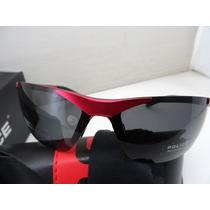 Óculos De Sol Polarizado Police 100% Uva E Uvb Vermelho