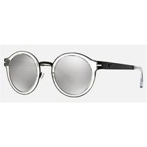 Óculos De Sol Emporio Armani Round Cinza E Preto