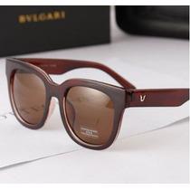 Óculos De Sol Para Mulher Retrô Marrom Feminino Importado