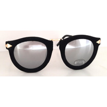 Oculos Feminino Espelhado Veludo Barato