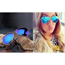Óculos Sol Aviador Espelhado Azul- Uv400. Pronta Entrega!
